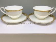 Набор чайных пар 6/12 пр костяной фарфор Ампир Japonica Япония