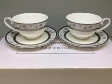 Набор чайных пар 2/4 пр костяной фарфор Киото Japonica Япония