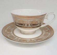 Набор чайных пар 6/12 пр костяной фарфор Идеал Japonica Япония