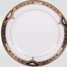 Набор закусочных тарелок на 6 персон костяной фарфор Дворцовый кобальт Japonica Япония