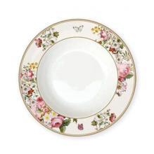 Тарелка суповая 23 см костяной фарфор Цветочный карнавал Cream Easy Life
