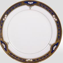 Набор подстановочных тарелок на 6 персон костяной фарфор Дворцовый кобаль Japonica Япония