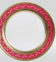 Набор подстановочных тарелок на 6 персон костяной фарфор Королевский рубин Japonica Япония