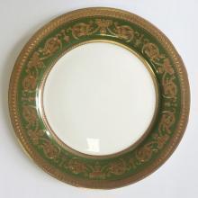 Набор подстановочных тарелок на 6 персон костяной фарфор Малахит Japonica Япония
