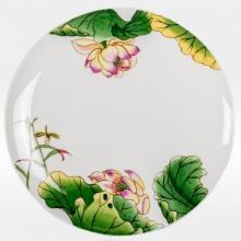 Набор подстановочных тарелок на 6 персон костяной фарфор Нимфея Japonica Япония