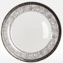 Набор подстановочных тарелок на 6 персон костяной фарфор Серебряный иней Japonica Япония