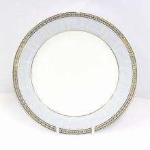 Набор подстановочных тарелок на 6 персон костяной фарфор Голубая лесенка Japonica Япония