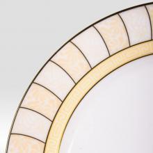 Набор подстановочных тарелок на 6 персон костяной фарфор Жёлтые дольки Japonica Япония