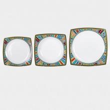 Набор из 18-ти тарелок на 6 персон костяной фарфор Авангард Japonica Япония
