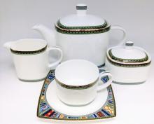 Сервиз чайный на 6 персон костяной фарфор Авангард Japonica Япония