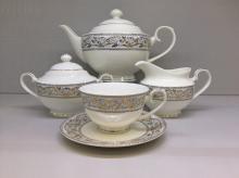 Сервиз чайный на 6 персон костяной фарфор Барокко Japonica Япония