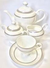 Сервиз чайный на 6 персон костяной фарфор Парадиз Japonica Япония