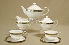 Сервиз чайный на 6 персон костяной фарфор Симфония Japonica Япония
