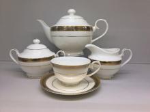 Сервиз чайный на 6 персон костяной фарфор Соната Japonica Япония