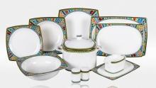 Сервиз столовый на 6 персон костяной фарфор Авангард Japonica Япония