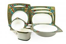 Сервиз столовый на 6 персон костяной фарфор Авангард (без супницы) Japonica Япония