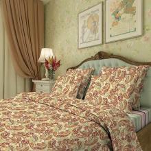 Комплект постельного белья 1,5-спальный перкаль Золотой огурец Трехгорная мануфактура