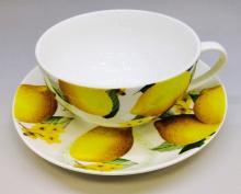 Чайная пара 350 мл костяной фарфор Лимон Japonica Япония
