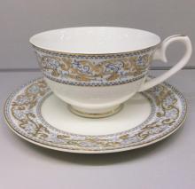Набор чайных пар на 6 персон костяной фарфор Барокко Japonica Япония