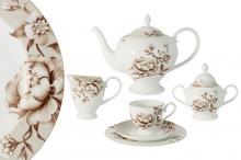 Чайный сервиз  21 предмет на 6 персон Стефания