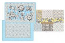 Набор из 4-х салфеток под горячее Цветовая палитра голубая в подарочной упаковке Easy Life