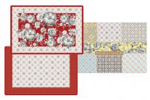 Набор из 4-х салфеток под горячее Цветовая палитра красная в подарочной упаковке Easy Life