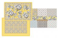 Набор из 4-х салфеток под горячее Цветовая палитра жёлтая в подарочной упаковке Easy Life