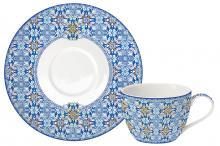 Чашка с блюдцем Майолика (голубая) без инд.упак.