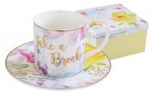 Чашка с блюдцем Любовь в подарочной упаковке