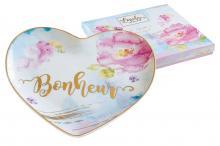 Тарелка в форме сердца Любовь в подарочной упаковке