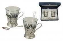 Набор для чая на 2 персоны Del Treno (silver)