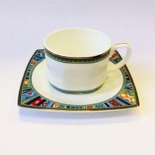 Набор чайных пар на 2 персоны костяной фарфор Авангард Japonica Япония