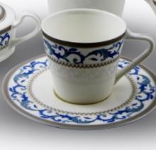 Набор чайных пар на 6 персон костяной фарфор Наоми Japonica Япония