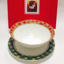 Набор тарелок детский костяной фарфор Алиса Maebata Япония