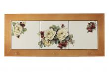 Вешалка для полотенец Роза и малина
