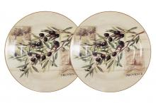 Набор из 2-х суповых  тарелок Оливки