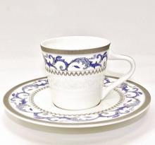 Набор кофейных пар для эспрессо на 2 персоны костяной фарфор Наоми Japonica Япония