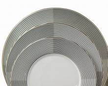 Набор из 18-ти тарелок на 6 персон костяной фарфор Сфера Japonica Япония
