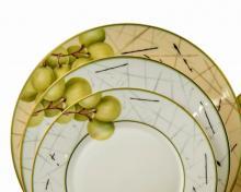 Набор из 18-ти тарелок на 6 персон костяной фарфор Семильон Japonica Япония