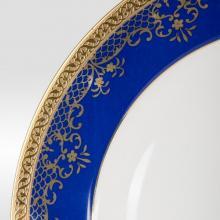 Набор из 18-ти тарелок на 6 персон костяной фарфор Сапфир Japonica Япония