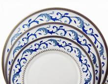 Набор из 18-ти тарелок на 6 персон костяной фарфор Наоми Japonica Япония