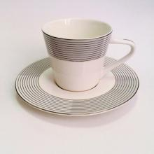 Набор кофейных пар для эспрессо на 2 персоны костяной фарфор Сфера Japonica Япония