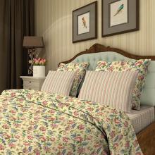 Комплект постельного белья Евро перкаль Жар-птица жёлтый Трехгорная мануфактура