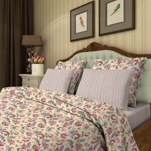 Комплект постельного белья Семейный перкаль Жар-птица бежевый Трехгорная мануфактура