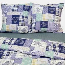 Комплект постельного белья Семейный перкаль Зимний пейзаж Трехгорная мануфактура