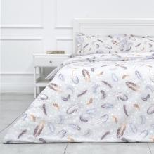 Комплект постельного белья Семейный перкаль Перья Трехгорная мануфактура