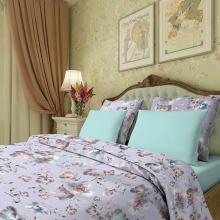 Комплект постельного белья 1,5-спальный сатин Нежность фиолетовый Трехгорная мануфактура