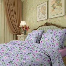 Комплект постельного белья 1,5-спальный сатин Аквилегия фиолетовый Трехгорная мануфактура