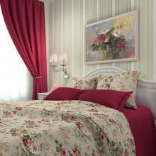 Комплект постельного белья 2-спальный макси сатин Розарий бежевый Трехгорная мануфактура