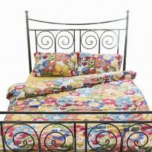 Комплект постельного белья Евро сатин Цветочный калейдоскоп жёлтый Трехгорная мануфактура